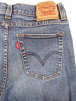Levi's Women's Jeans Size 8 Short Inseam 29 Mid Rise Dark Wash Boot Cut Slimming