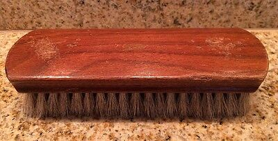 Vintage Ox Co Horse Hair Shoe Shine Brush Made in USA Sterilized Wood
