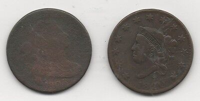 Lot of 10 Large Cents - Mixed Dates 1803 – 1856