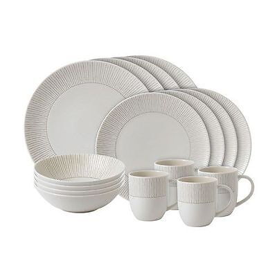 NEW Royal Doulton Ellen DeGeneres 16 PCE Taupe STRIPE Dinner Set - PriceDrop!