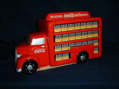 """Coca-Cola Brand Delivery Truck Cookie Jar By Gibson Multi-Color 7 1/2"""""""