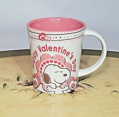 Peanuts Charlie Brown Snoopy Ceramic Coffee Mug Cup Happy Valentine's Day Gibson