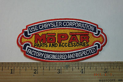 Mopar Parts and Accessories Factory Engineered Iron-on Embroidered Patch 4.25
