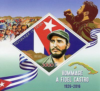 Benin 2016 MNH Fidel Castro 1v S/S World Leaders Stamps