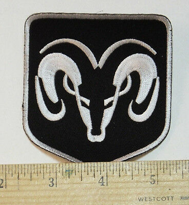 Dodge Ram Iron-on Embroidered Patch 3x3.5""