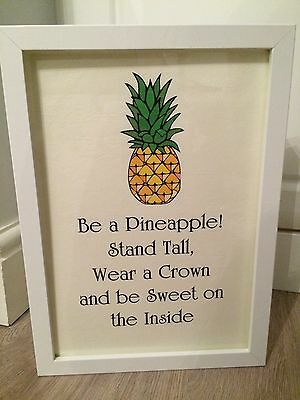 Pineapple Inspirational Life Quote Print Poster Art Framed Gift A4 Gift