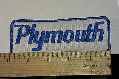 """Plymouth Iron-on Embroidered Patch 5x2"""""""