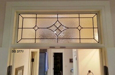 Leaded glass window Bevel Cluster star  & texture art glass SGDK 3771