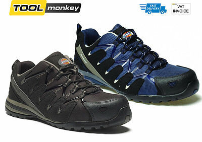 Dickies Tiber Safety Trainer Black or Navy FC23530 - Sizes 7 to 12 Metal Free