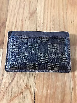 Pre-owned Louis Vuitton Damier Porte Cartes Simple Cardholder 100% Authentic