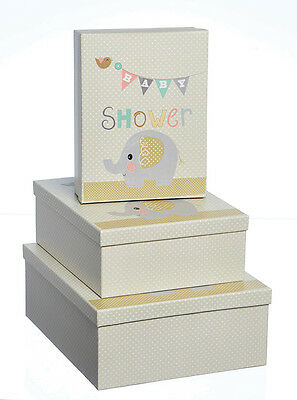 Rectangular Baby Shower Luxury Gift Box - Choice of Medium/Large/Extra Large