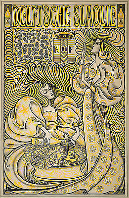 A3 Vintage/French Advertising Poster Colour/Art Nouveau-Reproduction