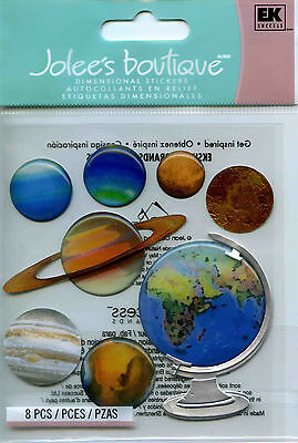 "Jolee's Boutique ""THE GLOBE & PLANETS"" Dimensional Scrapbooking Stickers - E12"