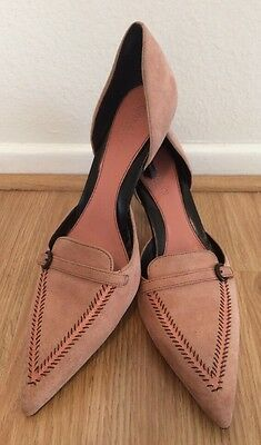 Cole Haan Country Women's Dusty Pink Leather Pointy Toe Heel Pump Size 8 1/2 AA