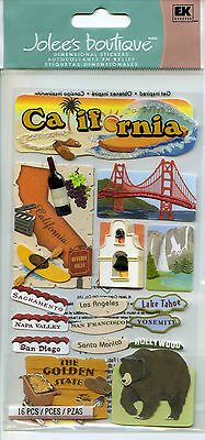 "Jolee's Boutique ""CALIFORNIA"" Dimensional Scrapbooking Stickers - F82"