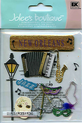 "Jolee's Boutique ""NEW ORLEANS"" Dimensional Scrapbooking Stickers - I16"