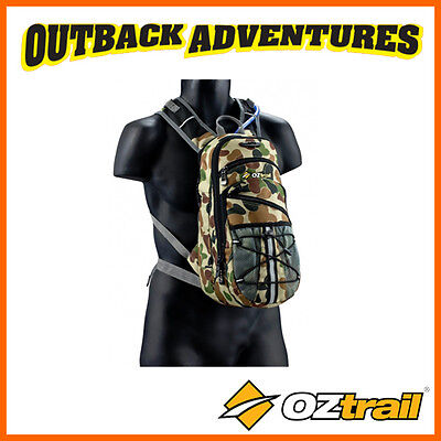 Oztrail Blue Tongue 2 Litre Hydration Hiking Back Pack Bladder Tactix Camo 2L