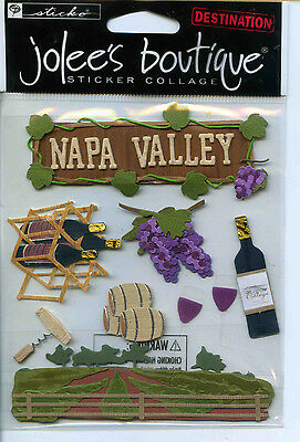 "Jolee's Boutique ""NAPA VALLEY"" Dimensional Scrapbooking Sticker - Q23"