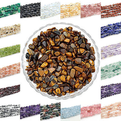 """5-10mm Freeform Natural Stone gemstone Chips Beads For Jewelry Making 15.5"""""""