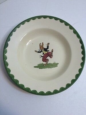 Antique Child's Bowl Uncle Wiggily Rabbit Made in Germany B6