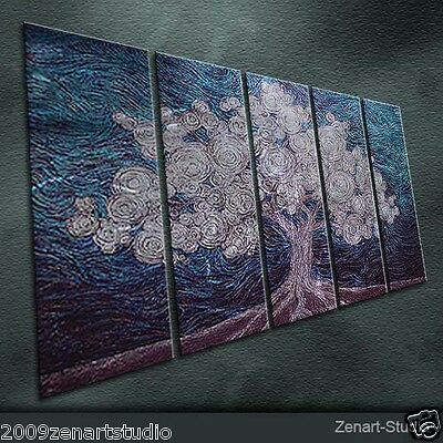 Original Metal Wall Art Abstract  Indoor Painting Sculpture Outdoor Decor-Zenart