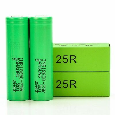 2x Samsung 25R IMR 18650 2500mAh 20A | Authentic Original Rechargeable Batteries