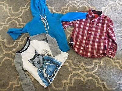 Sz 3 Boys Lot Country Road Hoodie And Esprit Shirt