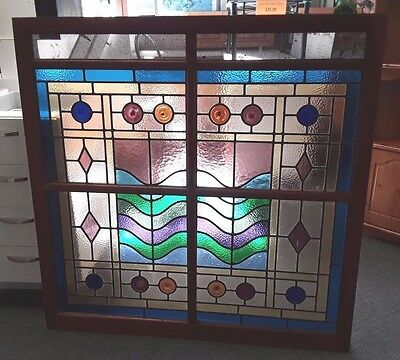 Cedar Art Deco Era Lead light Window