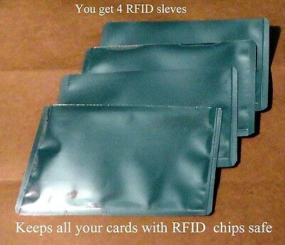 4 RFID High Level Blocking-Credit Card Sleeves like a pouch and is Waterproof!!