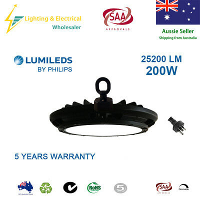 200W Led High Bay Light 5000K Lumileds Philips Warehouse Industrial Factory