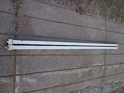Vintage Tapered Cone Pin Ends Cast Iron Bed Frame Side Rails