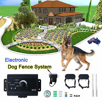 Wireless Dog Fence No-Wire Pet Containment System Rechargeable &Waterproof