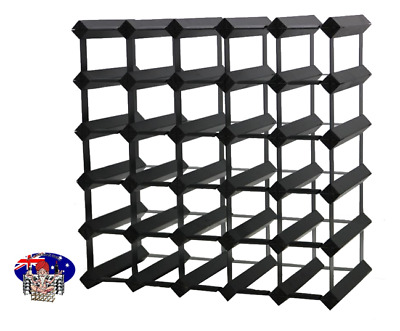 Timber 30 Bottle Wine Rack, ONYX BLACK. Huge Savings