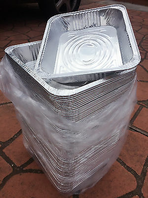 Aluminum Foil Trays BBQ Disposable Roasting takeaway Oven Baking Party Brand New