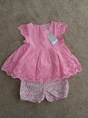 next girls top and shorts 18 - 24 months