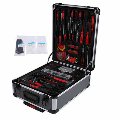 466pcs Screwdrivers Rachet Wrench Extension Bar Plier Tool Set Suitcase HC