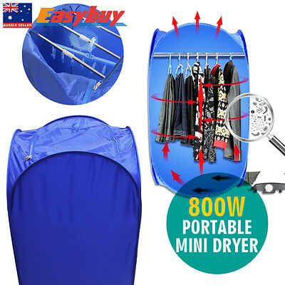 Portable Electric Clothes Dryer Air Drying Machine Bag Folding Heated Free SHIP