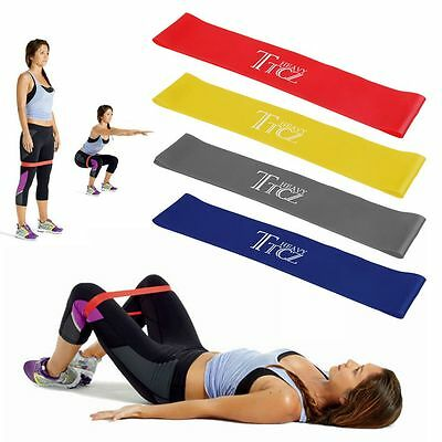 Resistance Exercise Loop Bands Home Gym Fitness Yoga Stretch Training Bands New~