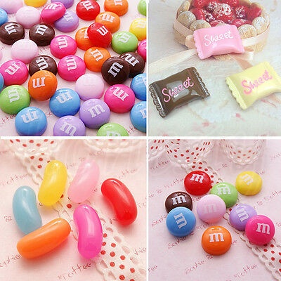 3/5Pcs Mixed Resin Food Candy Sweet Flatback Cabochons Decoden Scrapbooking