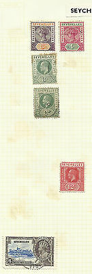 Seychelles selection on pages - H/Mint and used - QV-QEII