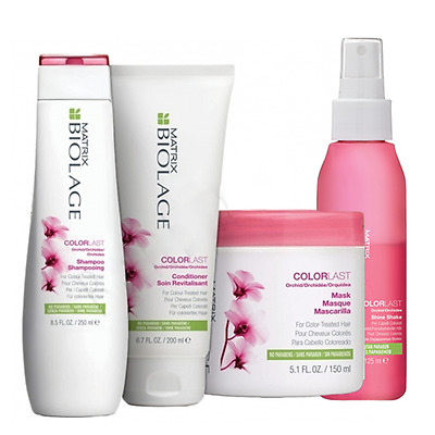 MATRIX Biolage Colorlast Shampoo+Balsamo+Shine Shake+Mask KIT CAPELLI