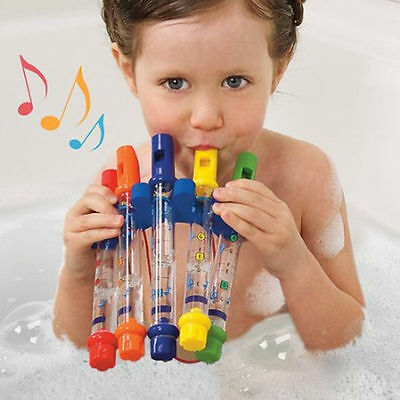 5Pcs Water Flutes Bath Tub  Music Kids Boy Girl Pool Beach Shower Game Toy New