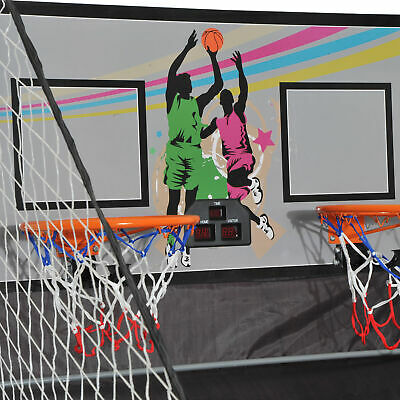 Indoor Basketball Arcade Game Double Electronic Shot Hoop 2 Player Fold w/4 Ball