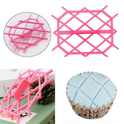Rhombus Quilting Embosser Mold Cake Fondant Icing Cutter Craft Decorating Tools