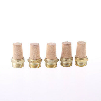 1BSP Thread Brass Pneumatic Air Exhaust Silencer Muffler 5pcs
