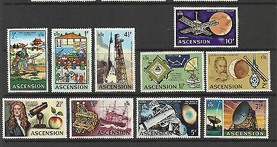 Ascension Island - Part Set of 10 stamps - Evolution of Space Travel -1971 - MNH
