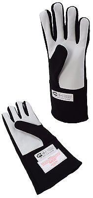 Late Models Racing Sfi 3.3/1 Gloves Single Layer Driving Gloves Black Xxl 2X