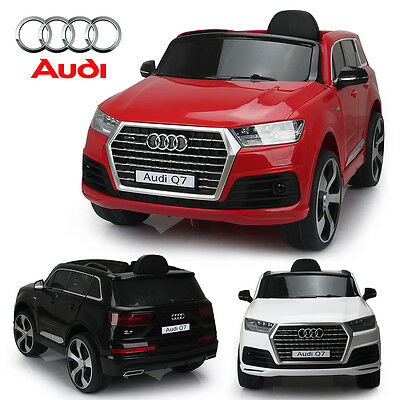 Audi Q7 Licensed Kids Ride On 12V Battery Remote Control Led Lights Car / Cars