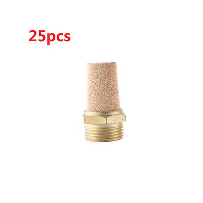 G1.2 PT Male Thread Pneumatic Muffler Silencer Filter Exhaust Brass 25pcs