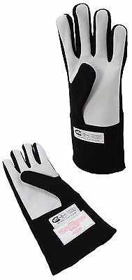 Late Models Racing Sfi 3.3/1 Gloves Single Layer Driving Gloves Black Large